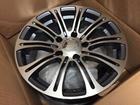 "brand new 10 twin spoke machined face bmw 5 series 16"" elbrus alloy wheel"