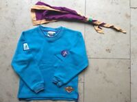 Beavers uniform sweatshirt, woggle and scarf - worn once