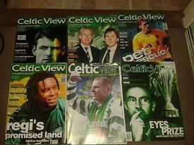 100 Celtic view magazines varies from 1998-2005 some annuals and posters