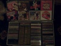 cds from 80s -90s in metal flight case approx 200