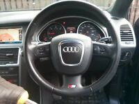 RARE FACELIFT AUDI Q7 STEERING WHEEL WITH PADDLE SHIFT