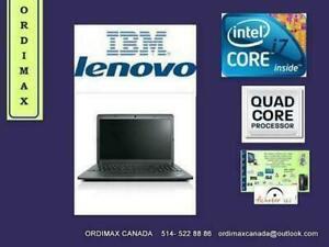 THINKPAD  IBM  LENOVO  EDGE E540 Intel I7 Quad Core  4702MQ ( 4e génération)/16 Gb Memoire RAM   Business  Laptop  15
