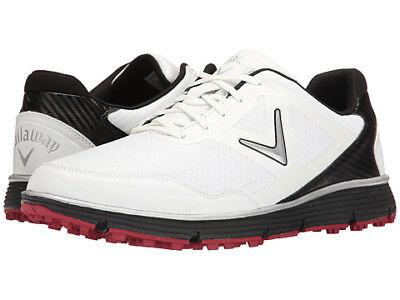 Callaway Balboa Vent Spikeless Golf Shoes White/Black 10.5 2E