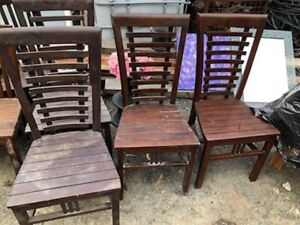6x dark wood chairs Tuggerah Wyong Area Preview