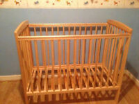 Baby space saver cot