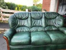 3 seater sofa with 2 armchairs.