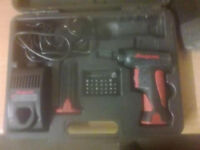 Snap On C-less ScrewDriver CTSU561 2 Batteries 7.2v Boxed & 2pc inspection kit