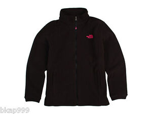 NWT North Face Girls TKA 300 Khumbu Fleece Full Zip Jacket Black/Razzle Pink XL