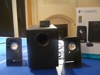 Logitech Z213 - 2.1 Surround sound speakers. 3 MONTHS OLD! (Barely used)