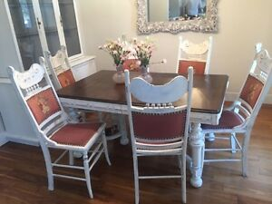 Antique, Vintage, New Refinished Cool Table and Chairs