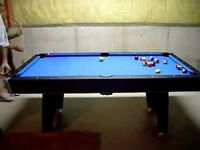 Junk removal for partial barter with pool/ping pong table