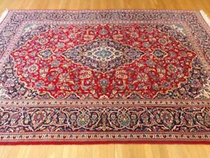 Vintage Kashan Persian Rug wool and soft price to sell