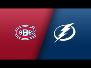 Montreal Canadiens vs Tampa Bay Lightning 3 Novembre row BB $81