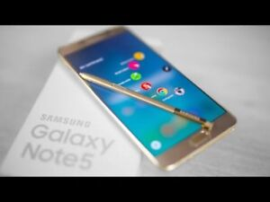 SAMSUNG GALAXY NOTE 5 FOR SALE - UNLOCKED -WARRANTY -ACCESSORIES