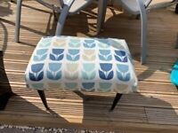 Vintage footstool newly upholstered