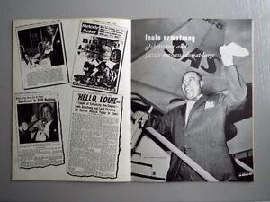 Louis Armstrong programme 1964 Autographié West Island Greater Montréal image 6