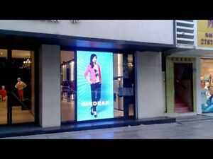 LED message centres for store front windows or signage
