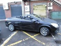 2008 Vauxhall Astra Exclusive Black Twin Top 1.9 CDTI Convertible trade in ok,credit cards accepted.
