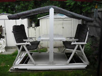 Unique 4-seater swing with table