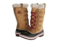 Sorel Tofino Cate Winter Boots, curry/ Red Plum