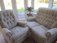 Parker Knoll 2 seater and chair