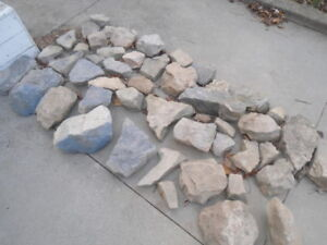 Approximately 50 garden stones - $5 for the lot