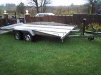Lynton twin axle tilt bed car transporter trailer