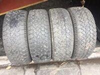 """Set of 4 Runway Tyres 15"""""""