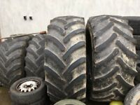 2x Tractor tyres Goodyear 650/65/38
