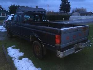 1990 Ford F-250 blue Pickup Truck