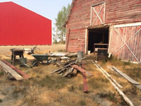 Old corral, feedlot, fenceline, barn removal