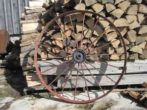 Antique Steel Farm Machinery Wheel
