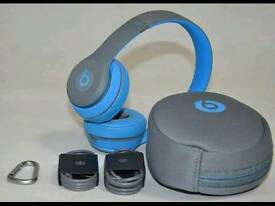 Beats By Dr. Dre Solo 2 Wireless (Blue and Grey)
