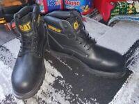 Brand new CAT steel toe cap boots size 11