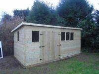 Bespoke wooden shed
