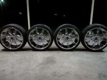 20 INCH CHROME IB RACING ALLOY WHEELS 5/114.3-5/120 MULTI STUD Medowie Port Stephens Area Preview