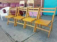 Folding chairs (4 available)