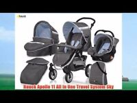 Hauck Apollo Stroller All In One Travel System like new