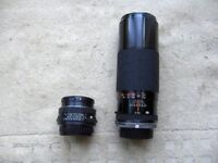 Tamron 300mm slim lightweight telephoto lens. Pentax camera fitting.