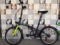 B twin folding bike serviced mudguards Like new condition extras open to offers ready to ride away