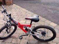 Boys mountain type bike on 20in wheels