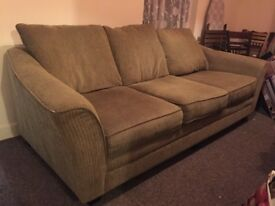 Free large 3 seat sofa, good condition, collection only