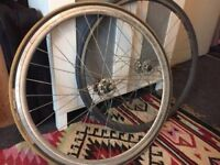 Pair of single speed/fixie wheels (for spares)