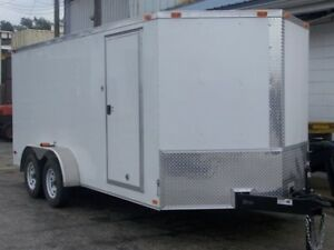 7 x 16 V-nosed Cargo Trailer with extra height