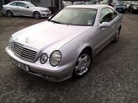 Mercedes CLK200 2.0 Petrol 2001 AUTOMATIC MOT 8 Months VERY GOOD CONDITION P/X WELCOME