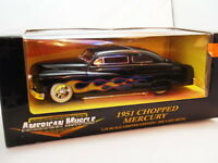 1:18 FORD MERCURY CHOPPED 1951. BLACK. ERTL. NEW. UNUSED.