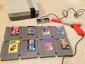 Nintendo (NES) with 8 great games