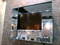 Mirror wall fire