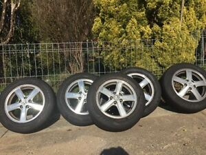5 ALLOY WHEELS WITH NEW TYRES Belconnen Belconnen Area Preview