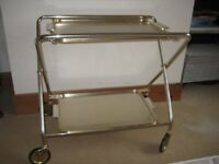 Hostess Trolley on wheels with removable trays